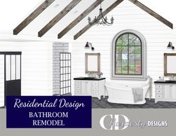 Bathroom remodel or new construction edesign by CDHardesty Designs