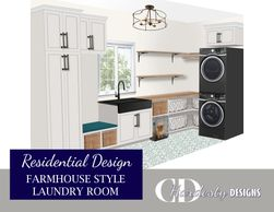 Laundry room  remodel or new construction edesign by CDHardesty Design