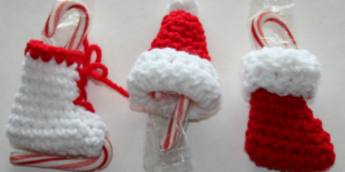 Crochet pattern for three Christmas ornaments