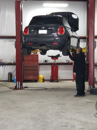 Pedro completing a vehicle inspection, standard practice any time a vehicle is in our shop.