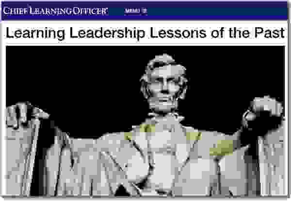 Michael J. Gelb CHIEF LEARNING OFFICER Learning Leadership Lessons of the Past