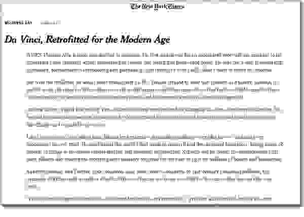 Michael J. Gelb NEW YORK TIMES Da Vinci, Retrofitted for the Modern Age