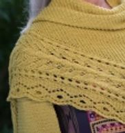 Evrenden Shawl made with Berroco Summer Silk