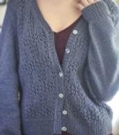 Emmi Cardigan is made with Berroco Arno
