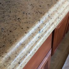 "Custom edging 1 1/2"" ogee for spruzzostone kitchen counter top"