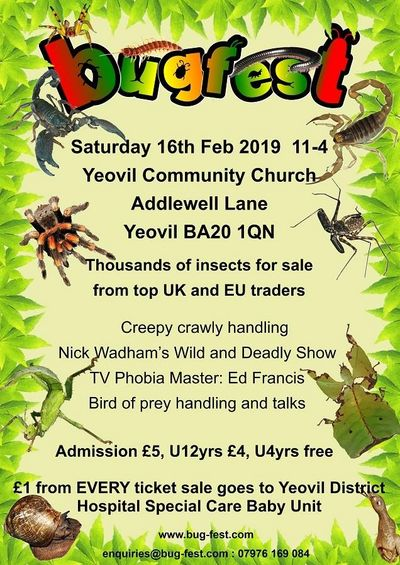 Great Event on Saturday 16th Feb, great way to see creatures up close, and get to hold and learn.