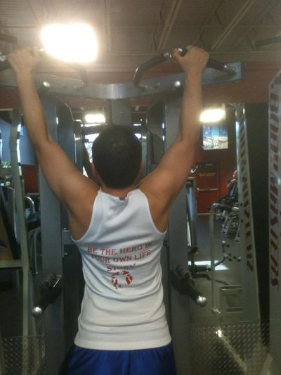 Assisted pull-ups I did at the gym at the encouragement of my personal trainer.
