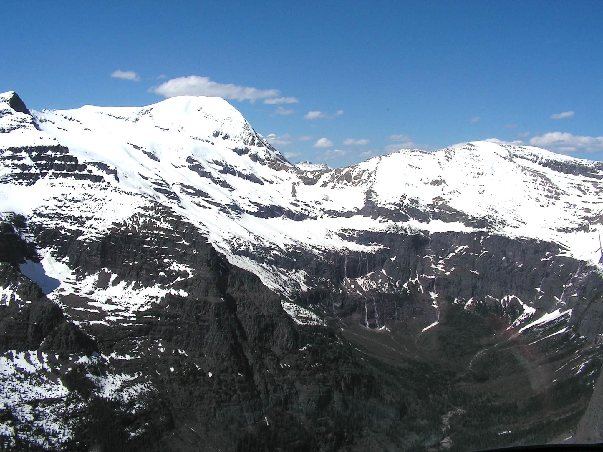 Picture I took in Glacier National Park from a helicopter.