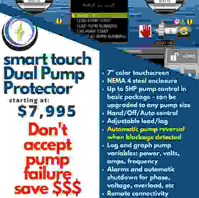 Are you replacing pumps too often? Take a look at our smart touch pump protector.  Proven to save $$