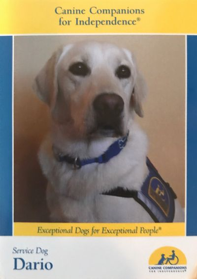 Canine Companions for Independence. Service dog