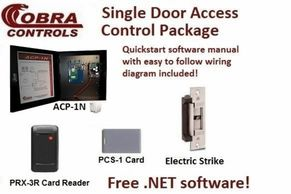 Cobra Controls Single Door Access Control kit including all the components to secure one door