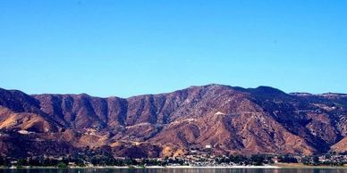 Lake Elsinore Mountain Views from across the lake