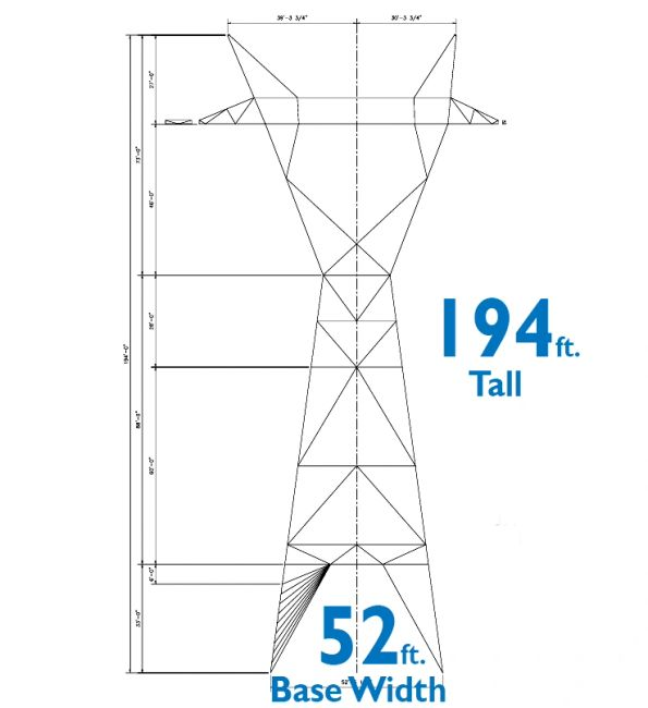 LEAPS Transmission Towers 194 ft tall