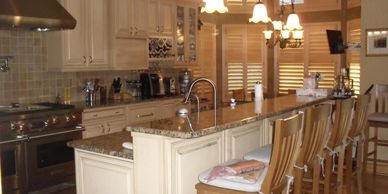 custom glazed kitchen