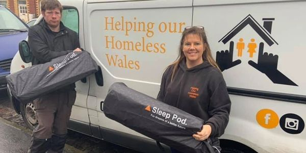 Sleep Pod working in partnerships with homeless charities