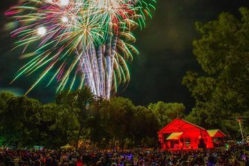 Spark in the Park!  Weatherford's amazing firework display put on by ExperienceWeatherford!