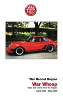 PCA War Bonnet newsletter cover with red Porsche 911