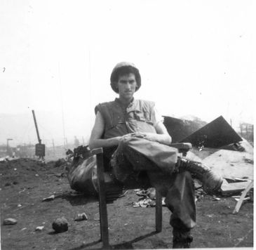 Author Michael Archer during siege of Khe Sanh