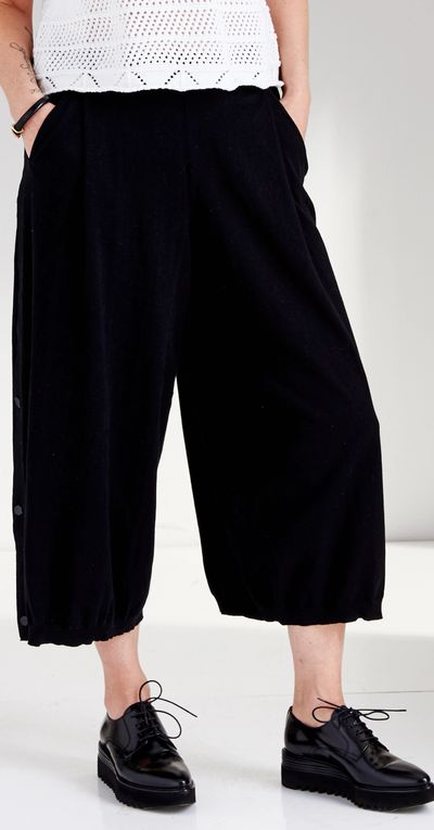Pocket Pleat Culotte Bamboo Spring Summer Kelley Derrett Collection Women's Clothing [Shop Details]