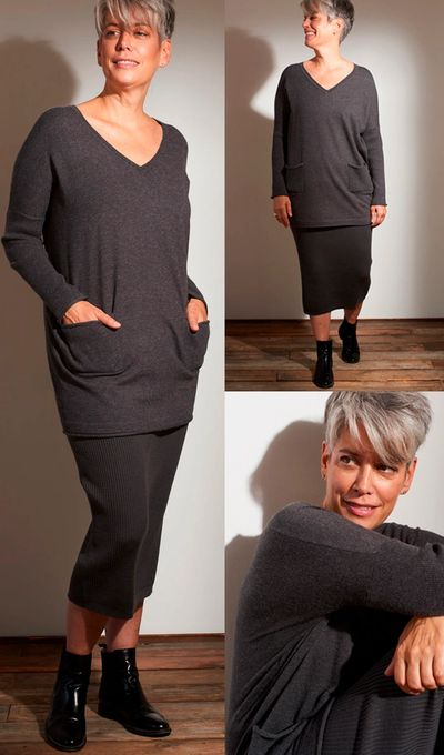 VNK Rib Sleeve Pocket Tunic FW Kelley Derrett Collection Women's Clothing [Shop Details]