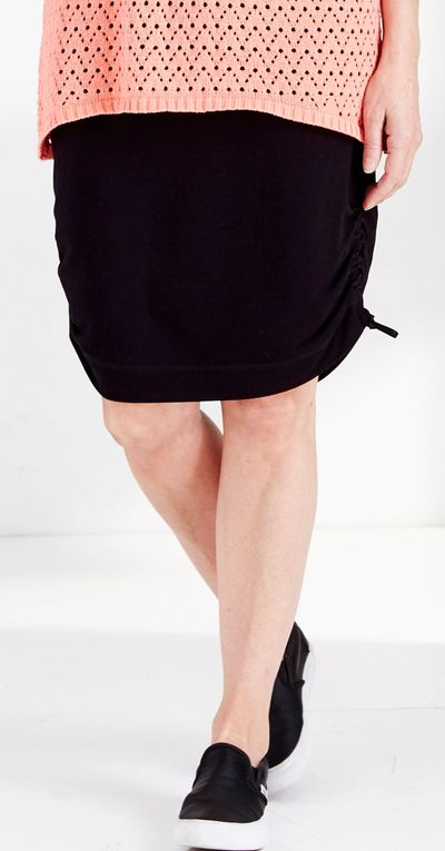 Side Sheered Skirt Bamboo Spring Summer Kelley Derrett Collection Women's Clothing [Shop Details]