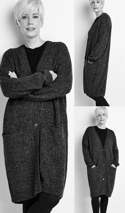 Elongated Cardigan Sweater FW18 Kelley Derrett Collection Women's Clothing [Shop Details]
