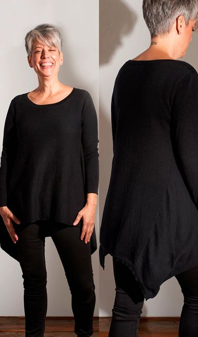 Cashmere Trapeze Back PO FW Kelley Derrett Collection Women's Clothing [Shop Details]
