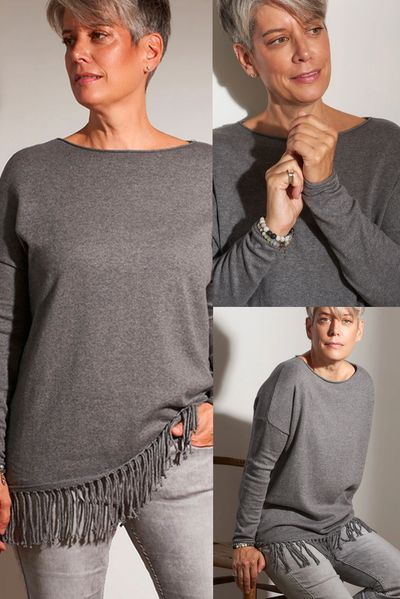 Cashmere Fringed PO Sweater FW Kelley Derrett Collection Women's Clothing [Shop Details]