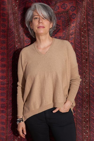 Cashmere VNK Asymmetrical Hem PO FW Kelley Derrett Collection Women's Clothing [Shop Details]