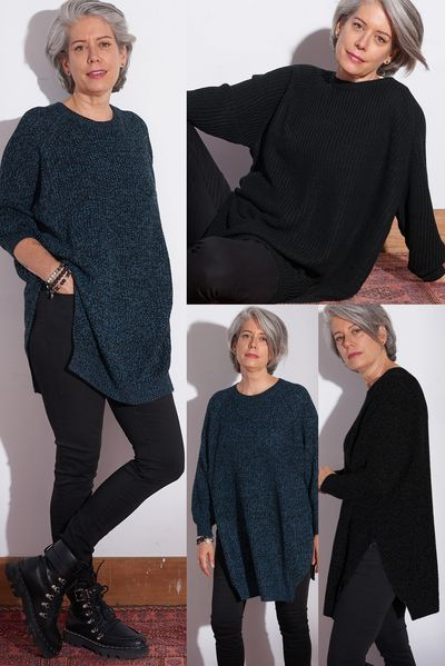 Oversized V/Hem Tunic FW Kelley Derrett Collection Women's Clothing [Shop Details]