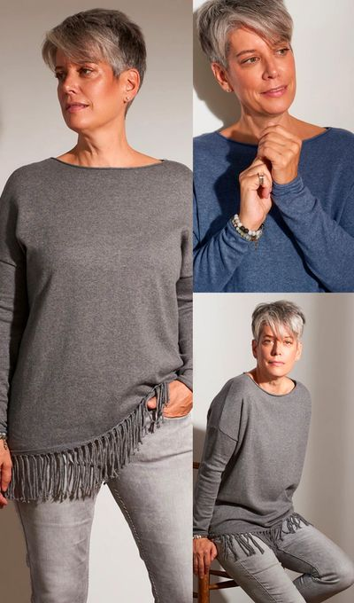 Cashmere Fringed PO Sweater FW18 Kelley Derrett Collection Women's Clothing [Shop Details]
