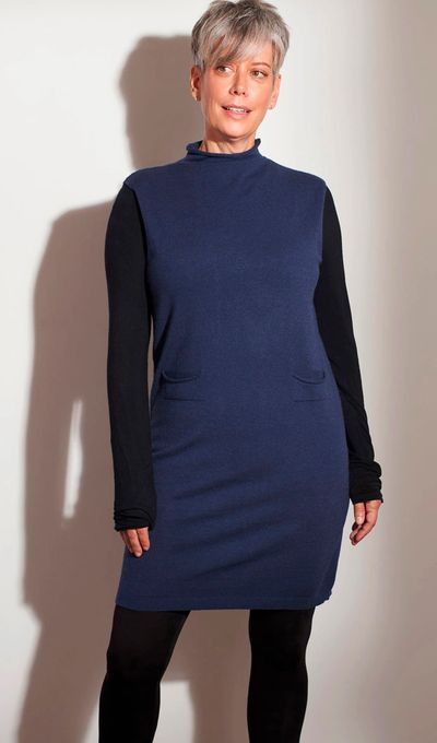 Roll Neck Pocket Sleeveless Tunic FW Kelley Derrett Collection Women's Clothing [Shop Details]