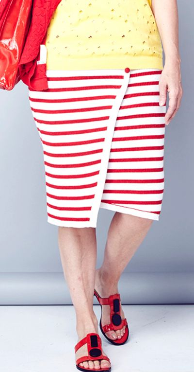 Striped Rib Skirt Spring Summer Kelley Derrett Collection Women's Clothing [Shop Details]