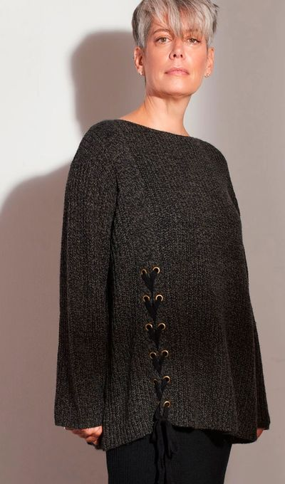 Lace Detail Pullover FW18 Kelley Derrett Collection Women's Clothing [Shop Details]