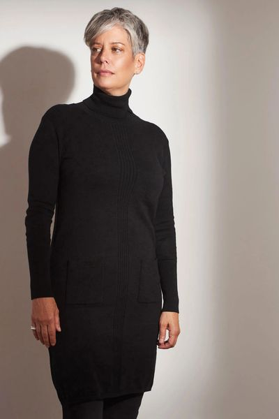 Cashmere Turtleneck Tunic-Dress FW Kelley Derrett Collection Women's Clothing [Shop Details]