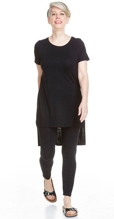SS Hi Low Long Tee Bamboo Jersey Spr/Sum Kelley Derrett Collection Women's Clothing [Shop Details]