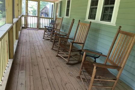 Screen Porch and Rocking Chairs