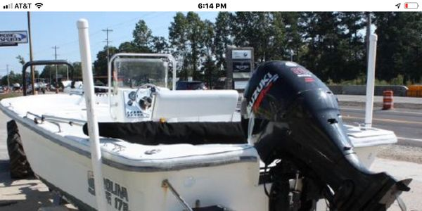 Lake Lanier's only fishing boat rental company.  Our 17'Carolina Skiff with a 90 Suzuki.