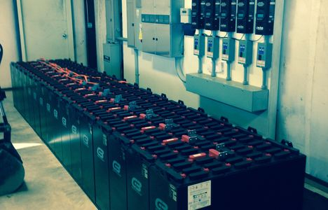 Forklift batteries for solar