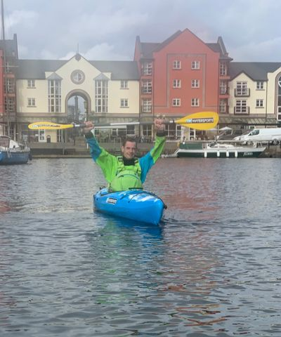 Simon on the Exeter Canal