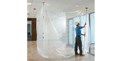 ZipWall ZipPole Dust Barrier