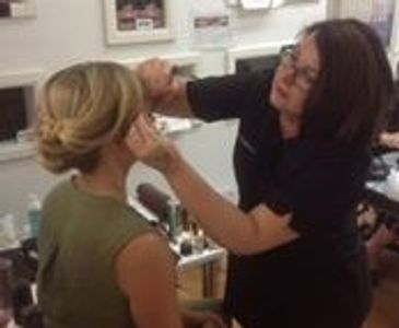 Owner : Christine Austin Applying Makeup for Shelley Craft from  The Block