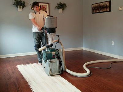 Hardwood floor sanding refinishing resurfacing