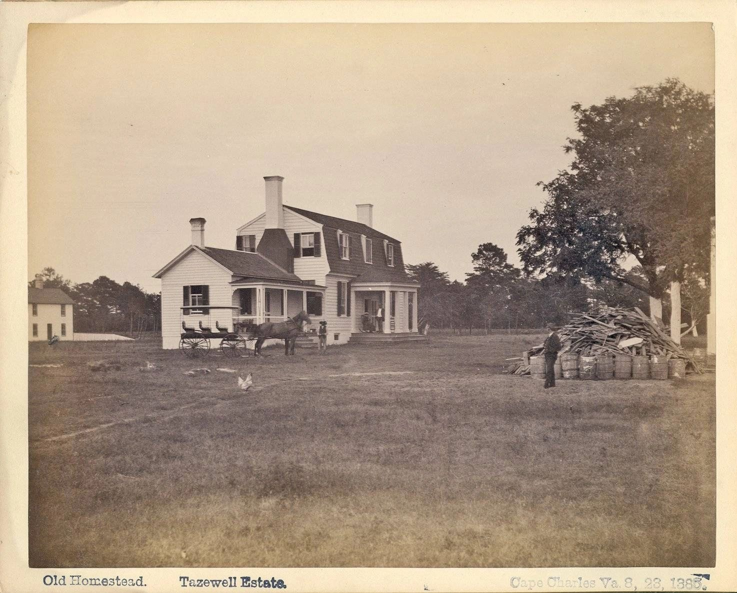 Littleton Tazewell Estate , bought by William L. Scott. Wm. Scott Estate Cape Charles blog.