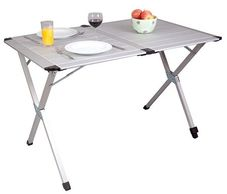 Tables, chairs and storage for camping and caravans.