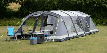 Camping tents of all sizes both inflatable and poled.