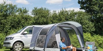 Motar caravan awnings both inflatable and poled