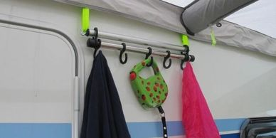 Caravan and motor caravan awning accessories.