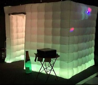 Inflatable Cube Backdrop for parties. Snap A Selfie Booths www.snapaselfiephotobooth.com