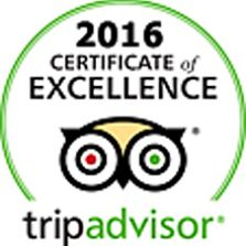 2016 Trip Advisor Badge of Excellence